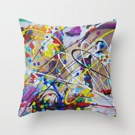 Abstract Etude Throw Pillow