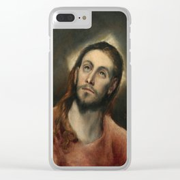 El Greco - Christ in Prayer Clear iPhone Case