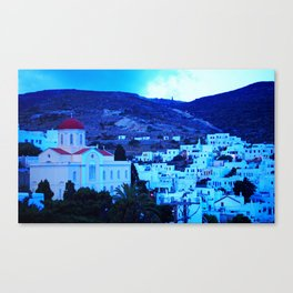 Pyrgos village Canvas Print