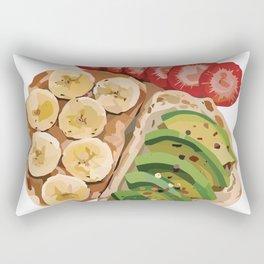 Banana & Avocado Toast Rectangular Pillow