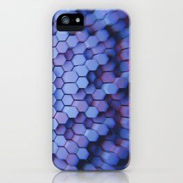 Hexagon blue pantone iPhone Case