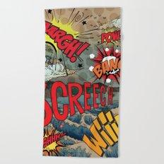 Hiroshige Comic Pop Art Beach Towel