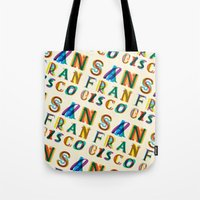 san francisco Tote Bags featuring San Francisco by Fimbis