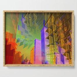 illusory city life -07- Serving Tray