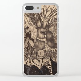 Confessing to the old tree Clear iPhone Case