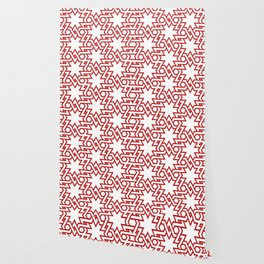 Red and white pattern Wallpaper