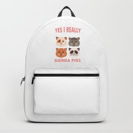 Yes I Really Do Need All These Guinea Pigs Rodents Cavia Domestic Animal Wildlife Gift Backpack