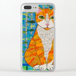 Marmalade Cat Clear iPhone Case