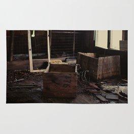 Abandoned crates Rug