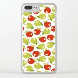 Bitten apples Clear iPhone Case