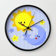 good morning, good night Wall Clock
