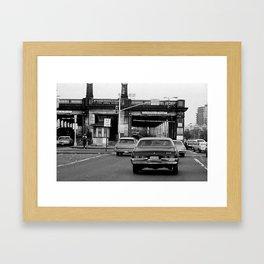 bridge in Williamsburg Framed Art Print