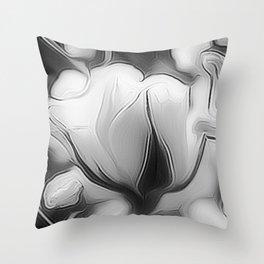 BLack and White Dream Throw Pillow