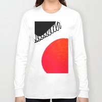 clown Long Sleeve T-shirts featuring clown by Gréta Thórsdóttir