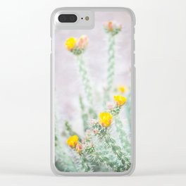 Desert Flower 2 Clear iPhone Case