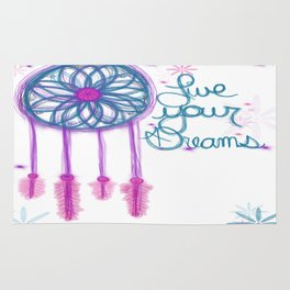 Live Your Dreams - White Rug
