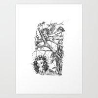 Tree Cubs Art Print