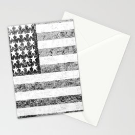 Grunge American Flag Stationery Cards