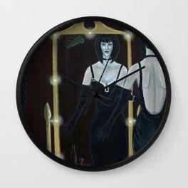 Woman in Black Velvet Wall Clock