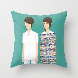 Tegan and Sara: Call It Off Throw Pillow
