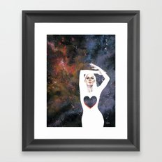 Love is infinite as the Cosmos Framed Art Print