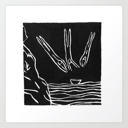 3 Divers Art Print