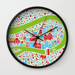 Wasserburg Poster Wall Clock