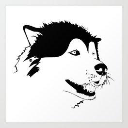 Husky snow Art Print