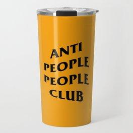 Anti People People Club (orange) Travel Mug