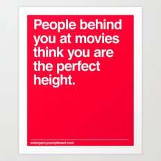 Perfect Movie Height Art Print