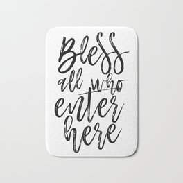 BIBLE VERSE Bible Cover Bless all Who Enter Here Home Decor Home Sweet Home Sign Bible verse Bath Mat