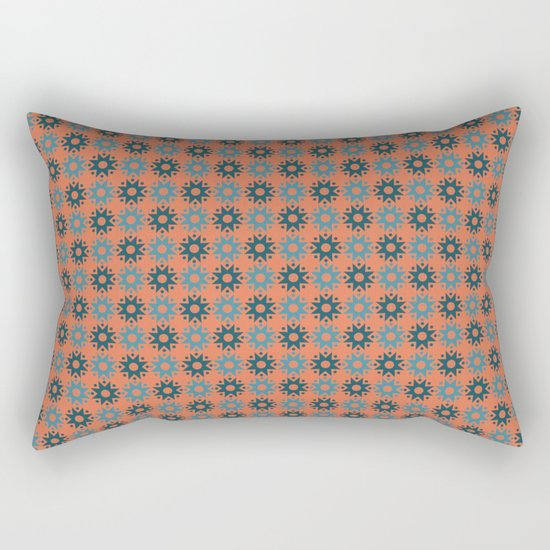 Pattern orange blue Rectangular Pillow