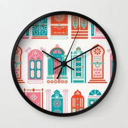 Moroccan Doors – Watermelon Palette Wall Clock