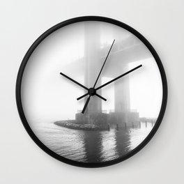 Verrazano Bridge: Divided by the Fog Wall Clock