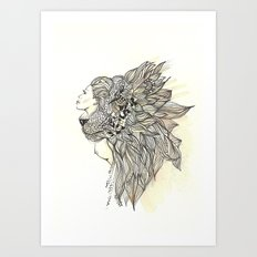 animalia lion Art Print