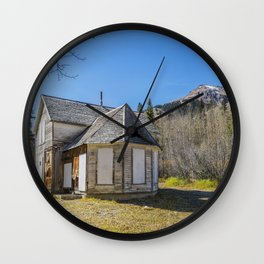 Ironton Ghost House Wall Clock