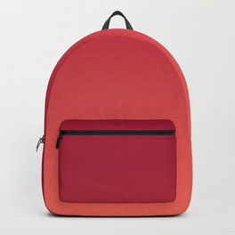 Living Coral Jester Red Gradient Ombre Pattern Bordo Burgundy Watercolor Texture Backpack