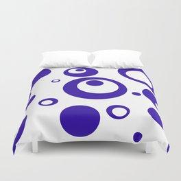 Circles Dots Bubbles :: Blueberry Inverse Duvet Cover