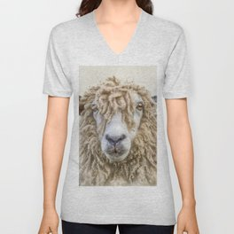 Longwool Sheep Unisex V-Neck