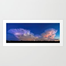 Sunday South Sky Monsoon Panorama Art Print