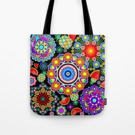 Mandalas & Exotic Fruits Pattern Tote Bag
