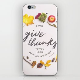 Psalm 9:1 Give Thanks iPhone Skin