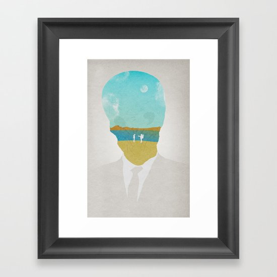 the (Silence) Impossible Astronaut Framed Art Print