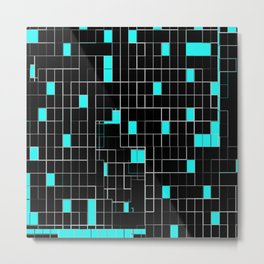 Bubblegum blue cubes Metal Print
