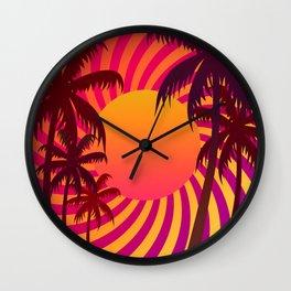 Tropical Sunset 5 Wall Clock