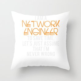 Network Engineer Gift Funny Engineering Computer Science Throw Pillow
