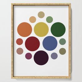 Hexagonal Color Chart Serving Tray