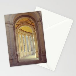 Charming corridor | Neoclassical architecture | Columns of Palais Longchamp in Marseille Stationery Cards
