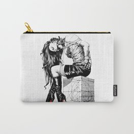 Lady on Cube Carry-All Pouch