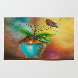 scarlet tanagers Rug